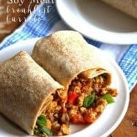 Egg Soy Meat Breakfast Burrito