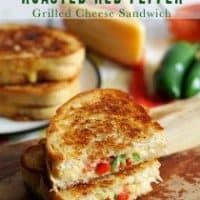 Gouda Jalapeno Roasted Red Pepper Grilled Cheese