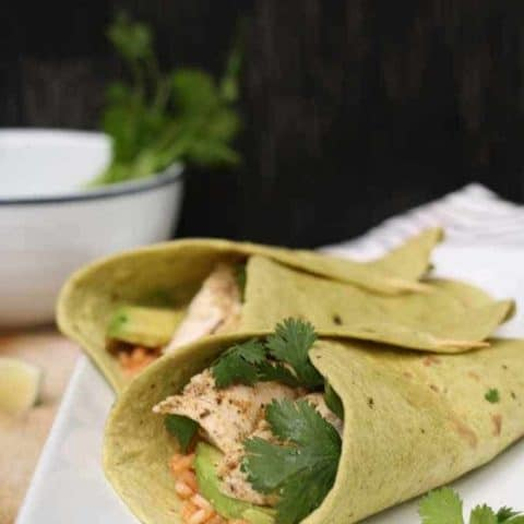 Grilled Chicken Wraps with Spanish Rice