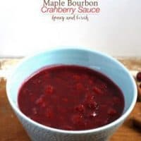 Maple Bourbon Cranberry Sauce