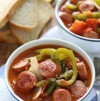 Sausage Leczo / Lecso (Hungarian Vegetable Stew)