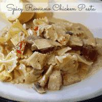 Spicy Romano Chicken Pasta