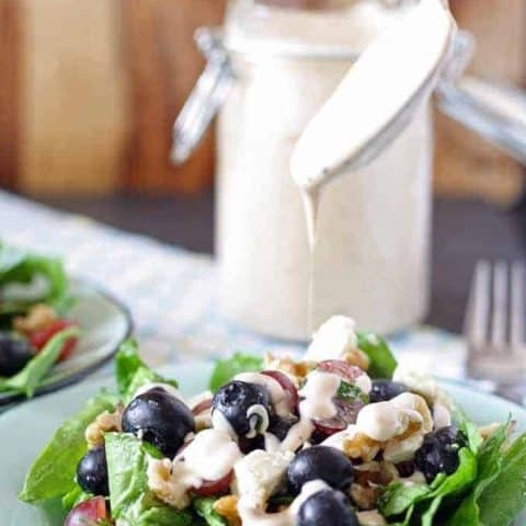 Spinach Salad with Balsamic Poppy Seed Dressing