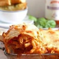 Three Cheese Penne Pasta Bake