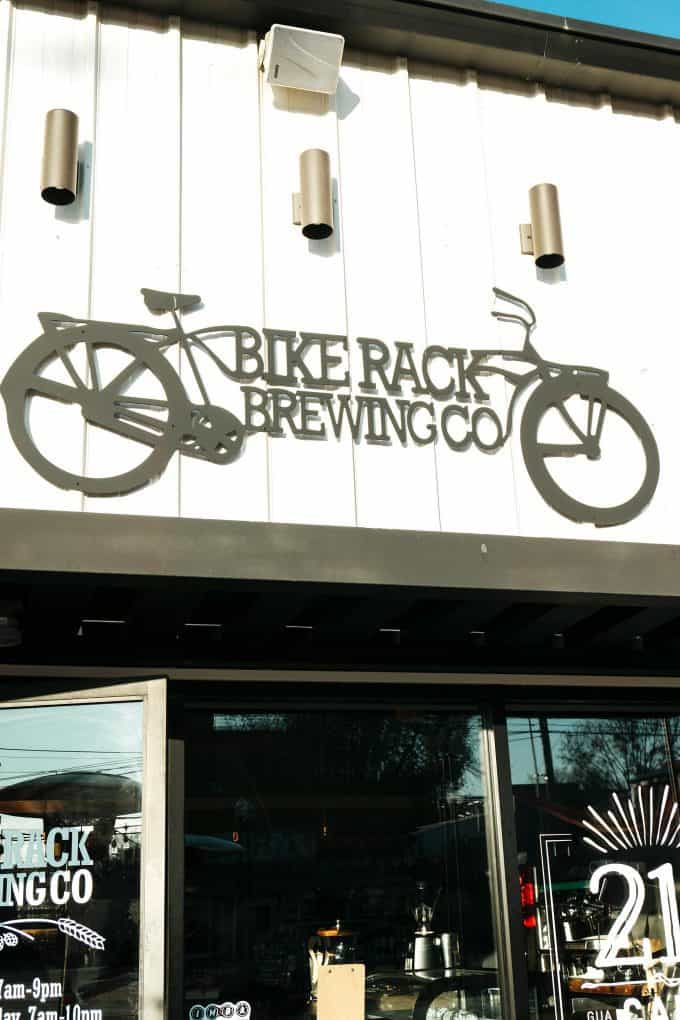 Bike Rack Brewing sign