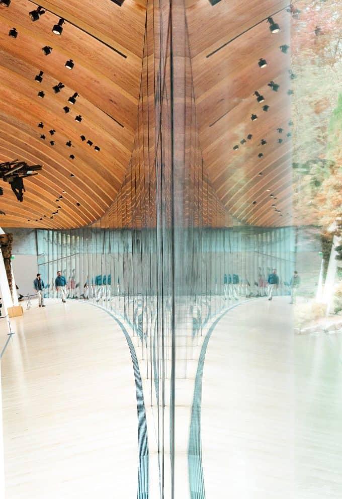 Crystal Bridges hallway