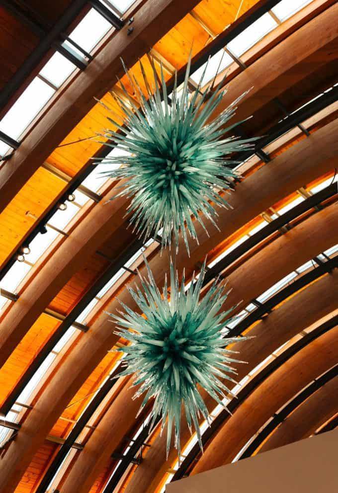 Crystal Bridges ceiling sculpture