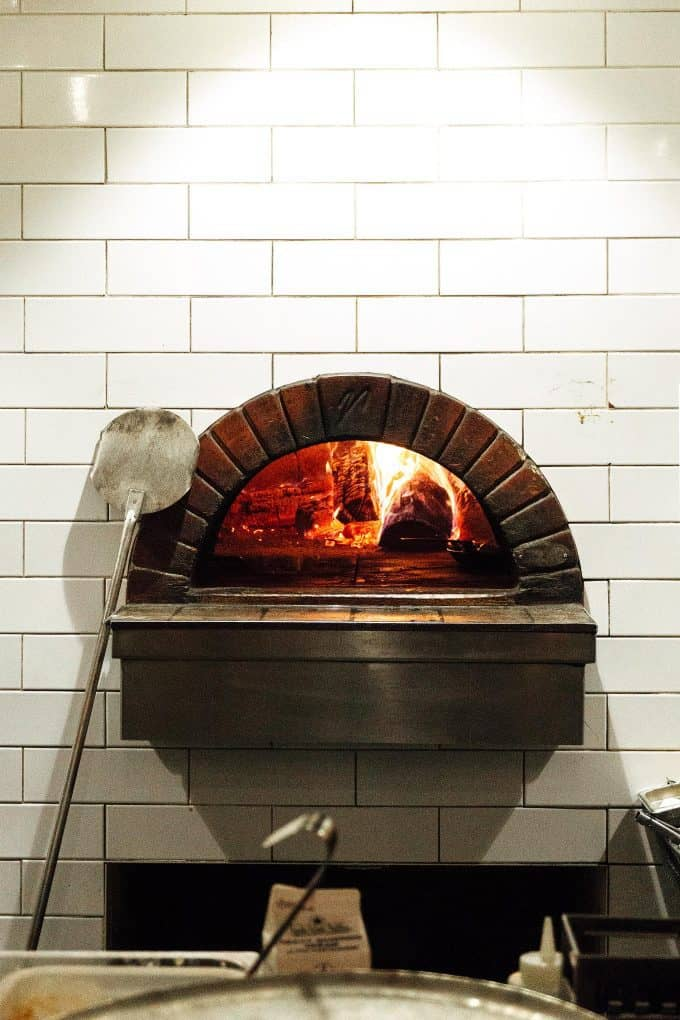 the wood fired oven at Oven and Tap