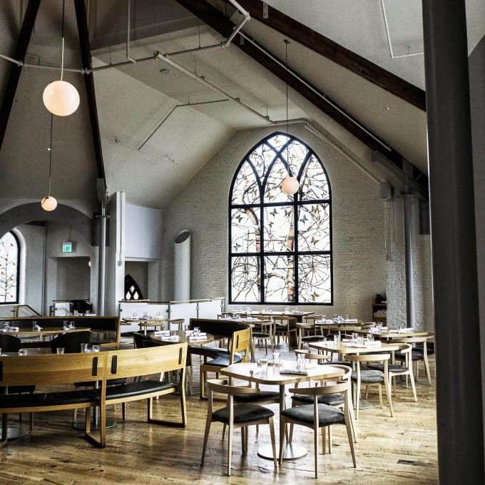 The restaurant interior at The Preacher's Son