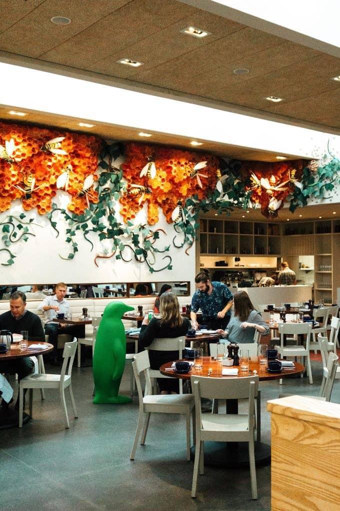 The Hive Restaurant interior in Bentonville, AR