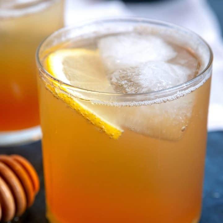 Sparkling Honey Rye Whiskey Cocktail