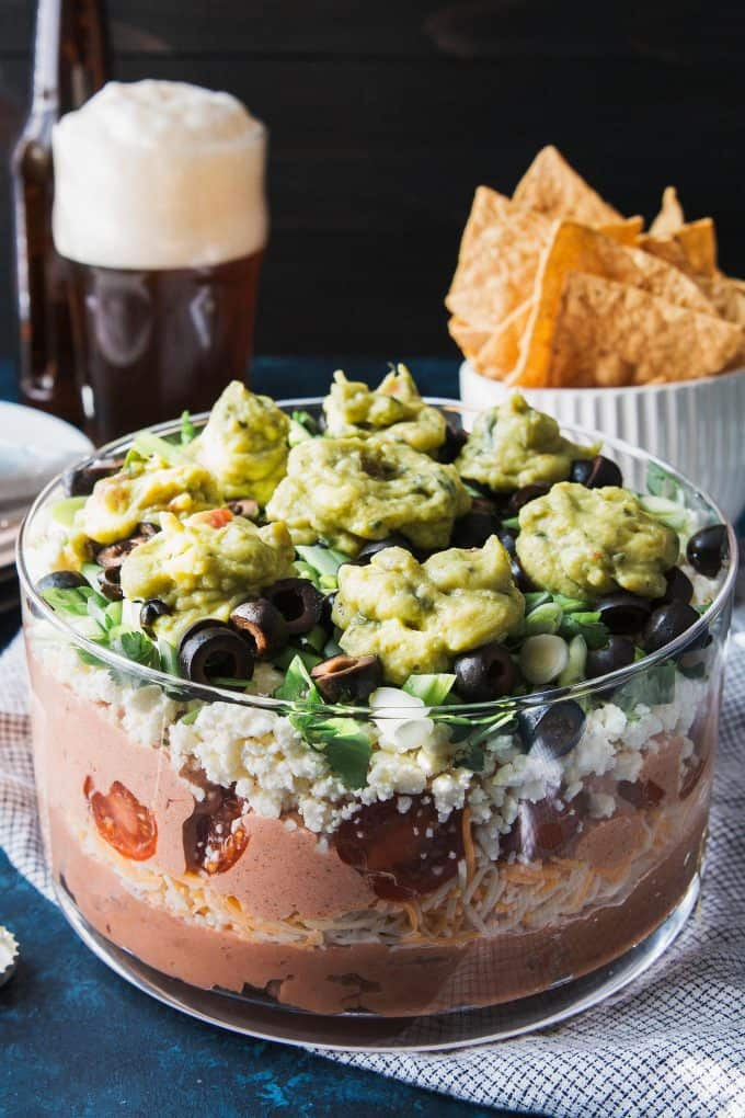 photo of 7 layer bean dip recipe