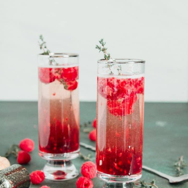 Raspberry Kir Royale