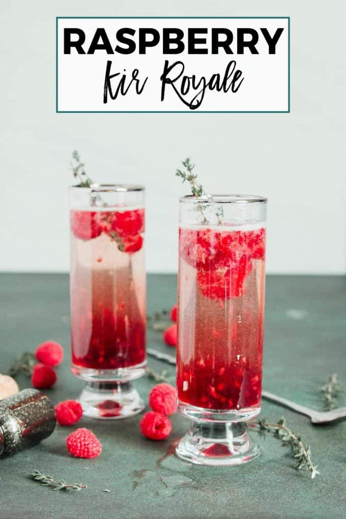 Raspberry Kir Royale pinterest image