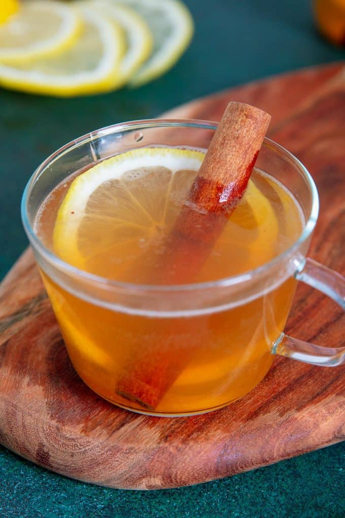 one hot toddy in a clear glass