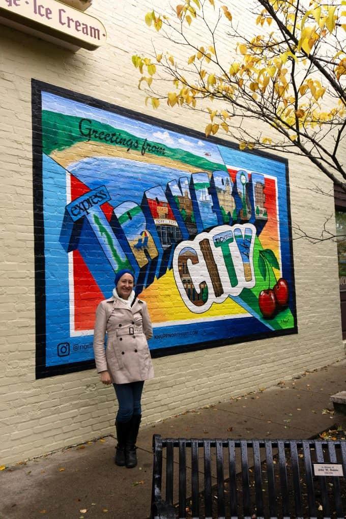 Traverse City mural downtown - Jenny