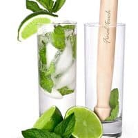Final Touch FTA1835 Glass and Wood Mojito Set