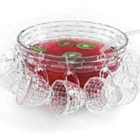 Brilliant - Punch Bowl Set with a Large Bowl, Ladle and Hanging Cups