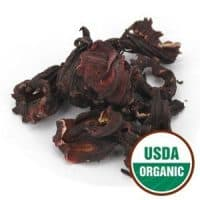 Starwest Botanicals Hibiscus Flowers Whole Petals Organic, 1 Pound