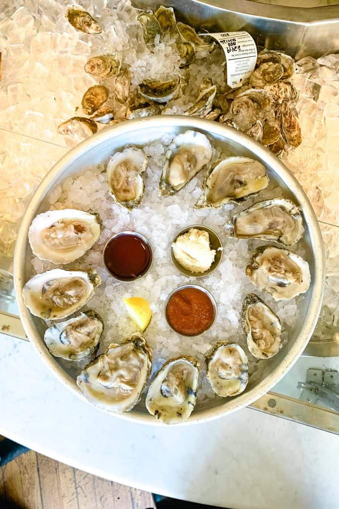 The Best Downtown Charleston Restaurants - Amen Street Fish and Raw Bar oysters