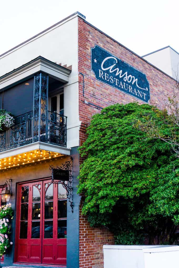 The Best Downtown Charleston Restaurants - Anson exterior