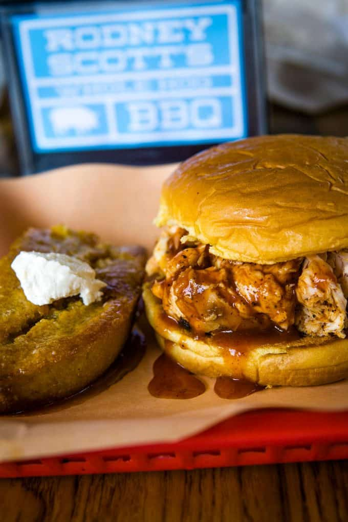 The Best Downtown Charleston Restaurants - Rodney Scott's BBQ bbq chicken sandwich