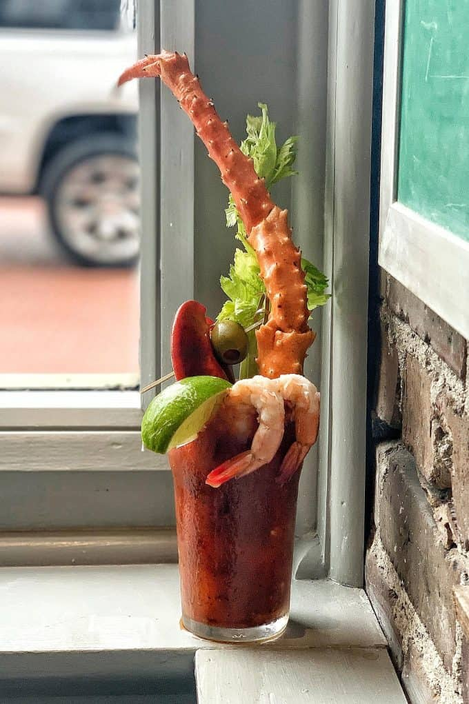 The Best Downtown Charleston Restaurants - The Darling Oyster Bar crab leg bloody mary