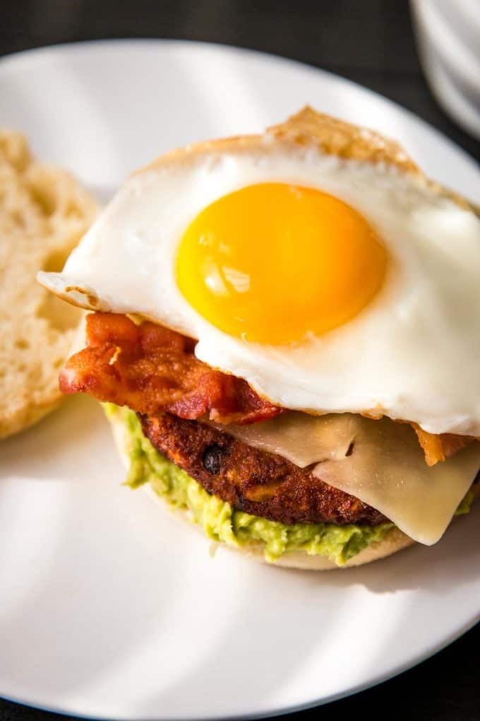 sunny side up egg on a sandwich