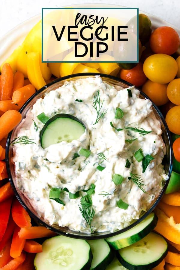 veggie dip pinterest image