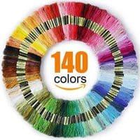 Premium Rainbow Color Embroidery Floss - Cross Stitch Threads - Friendship Bracelets Floss - Crafts Floss - 140 Skeins Per Pack
