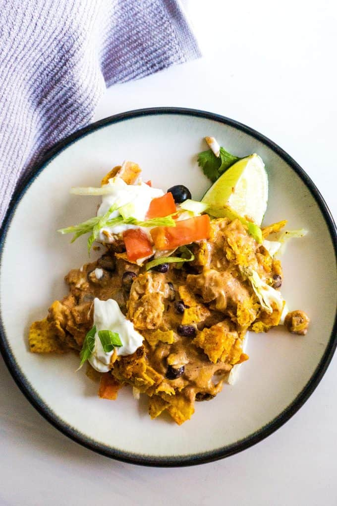 chicken taco casserole on a plate