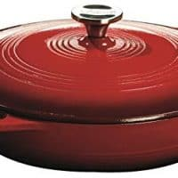 Lodge EC3CC43 Enameled Cast Iron Covered Casserole, 3.6-Quart, Island Spice Red