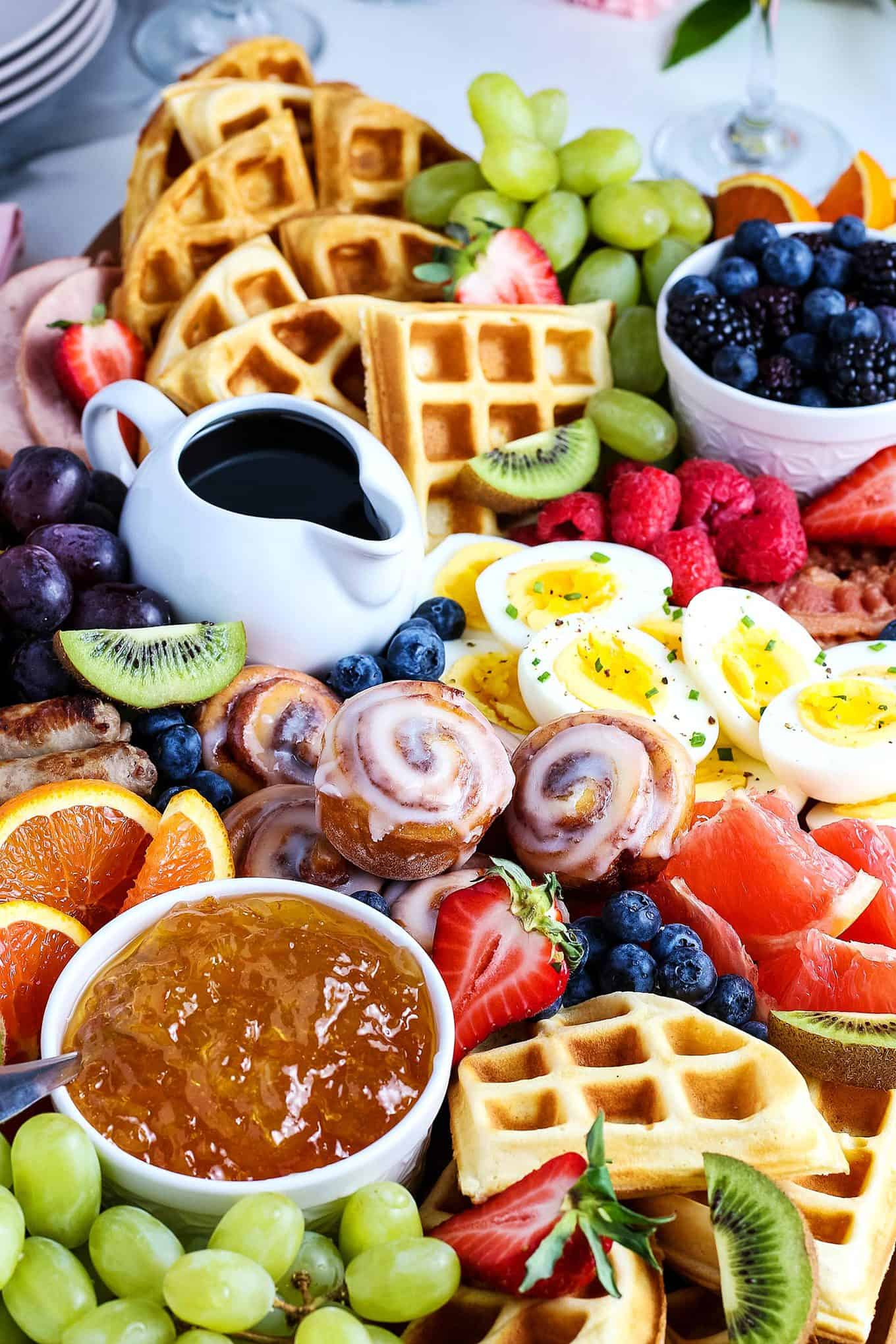 closeup photo of Mother's Day brunch board