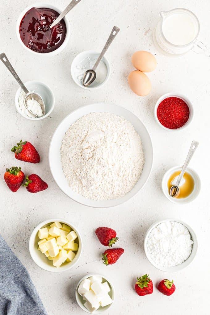 homemade strawberry pop tarts ingredients